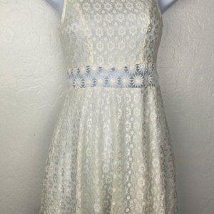 PAPAYA Lace Dress Small Ivory White